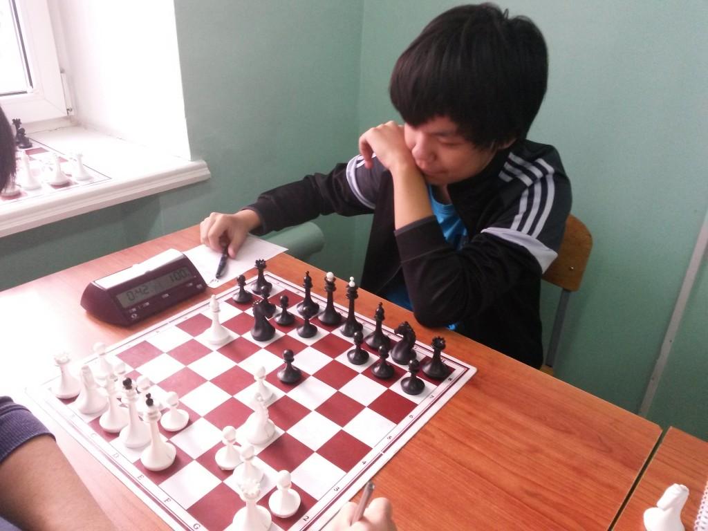 Лучший игрок среди школьников Хакасии Максим Токмашов