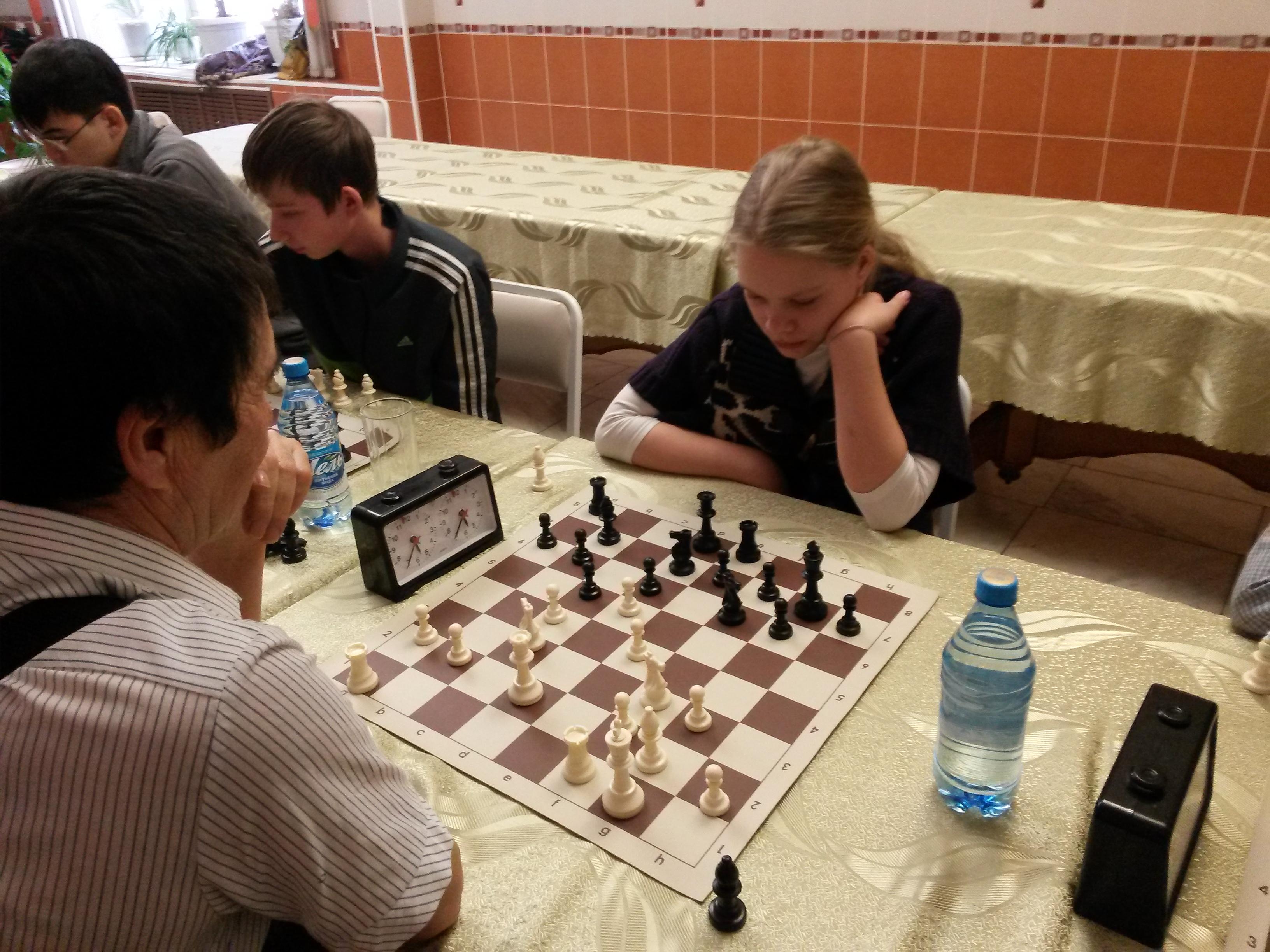 Одна из лучших шахматисток Хакасии - Бабушкина Полина
