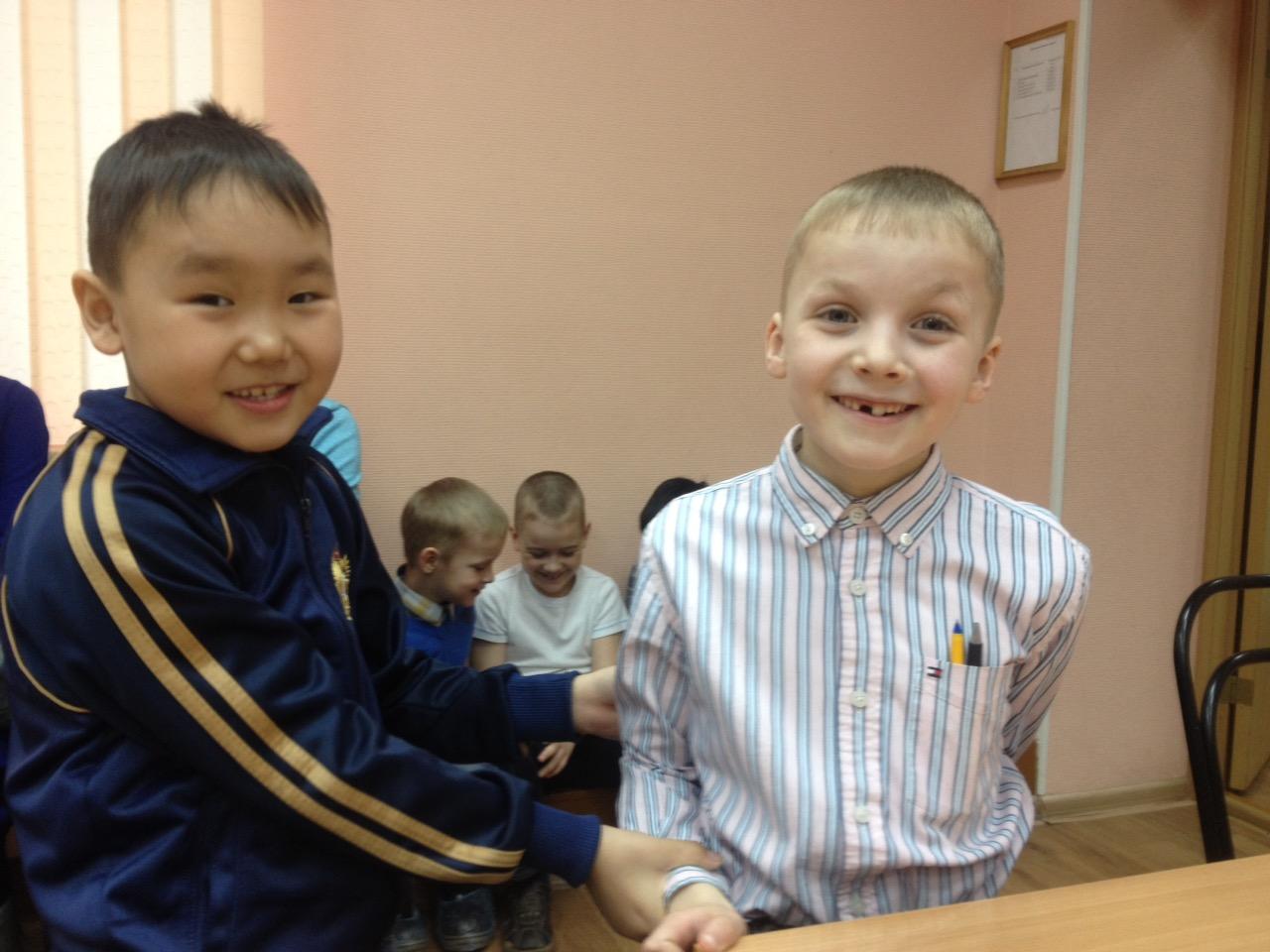 Айдар Кончук(слева) и Лев Ильин- участники Первенства СФО до 9 лет